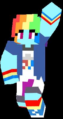 Rainbow Dash from My Little Pony Friendship is Magic: Equestria Girls.