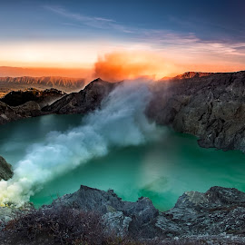 Never ending story of Ijen by Agus Sudharnoko - Landscapes Mountains & Hills