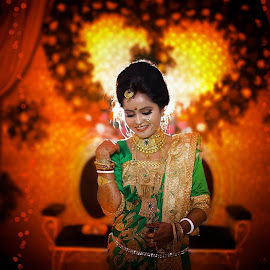 Beautiful Bride by Pranab Sarkar - Wedding Bride ( bride, bengali, beautiful brides, portrait, indian )