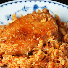 Easy Pork Chop Tomato Rice