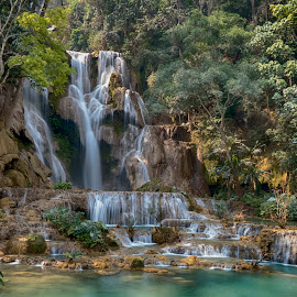Kuang Si Waterfall by Hale Yeşiloğlu - Landscapes Waterscapes ( waterscape, waterfall, laos, luang prabang, travel,  )