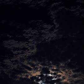 Dark Side of The Moon by Yoseph Ismail - Landscapes Cloud Formations ( clouds, moon, sky, nature, nature photography, night, photography )