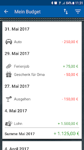 Mein Budget Screenshot