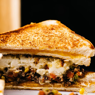 Shepherd's Pie Grilled Cheese