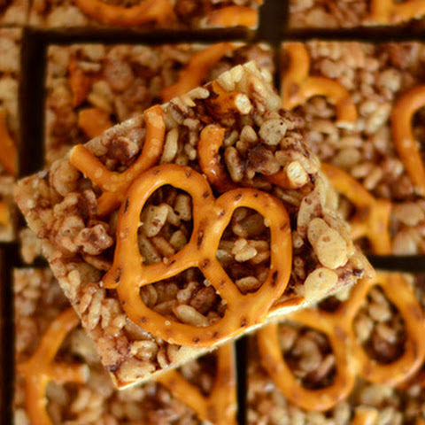 Salted Chocolate & Pretzel Rice Krispy Treats