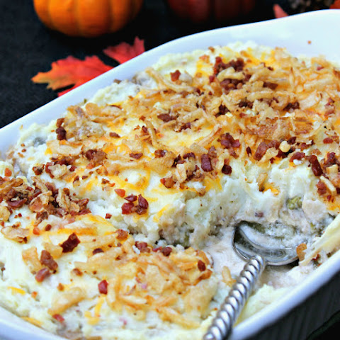 Layered Green Bean Casserole Shepherd's Pie #ThisIsMyTwist