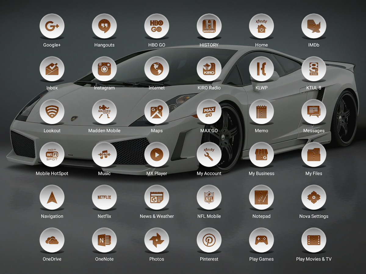 Daf White Wood - Icon Pack Screenshot 10