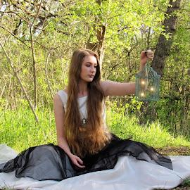 Enchanted Friends by Amanda Taylor - Digital Art People ( fairy tale, girl, digital art, fairy, enchanted, digital photography, fairytale )
