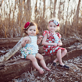 Spring Sweeties by Kristen VanDeventer Rice - Babies & Children Child Portraits ( girls, park, toddler, spring, ruffles )