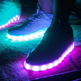 Glow shoes by Iman Alfarizi - Artistic Objects Clothing & Accessories ( shoes, glow, nike )