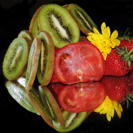 fruits,vegetables with the flower by LADOCKi Elvira - Food & Drink Fruits & Vegetables ( fruits )