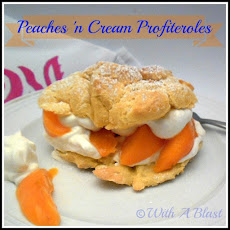 PEACHES 'n CREAM PROFITEROLES