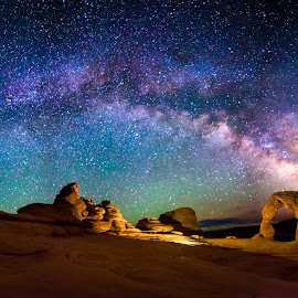 A Delicate Night by Ryan Moyer - Landscapes Starscapes ( moab, arches national park, arches, night, astrophotography, landscape, delicate arch, milky way, nightscape )