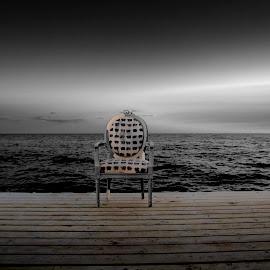 Chair by Staffan Håkansson - Digital Art Things ( chair, sky, horizon, rapsbollen, dock )
