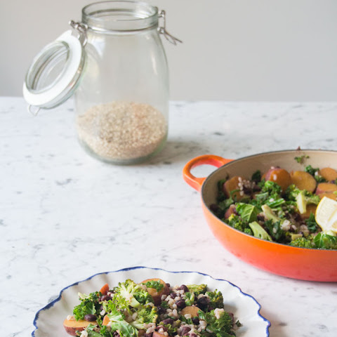 Kale and Sweet Potato Stir-Fry