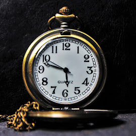 Frozen Time..! by Anoop Namboothiri - Artistic Objects Antiques ( pocket watch, numbers, chain, watch, anoop namboothiri, golden, anitique )