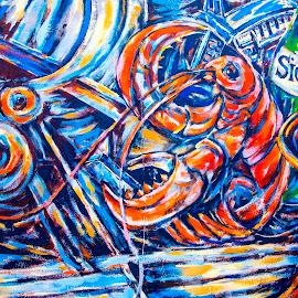 Image on East Side Gallery by Pravine Chester - Abstract Light Painting ( abstract, photograph, graffiti, wall painting, germany, berlin, east side gallery )