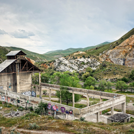 Lime Cement Plant  by Todd Reynolds - Buildings & Architecture Decaying & Abandoned ( oregon, lime, ruins, cement, abandoned )