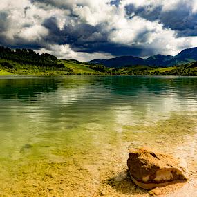 Clouds over the Lake by Mauro Fini - Landscapes Mountains & Hills ( castreccioni lake, cingoli, san vicino )
