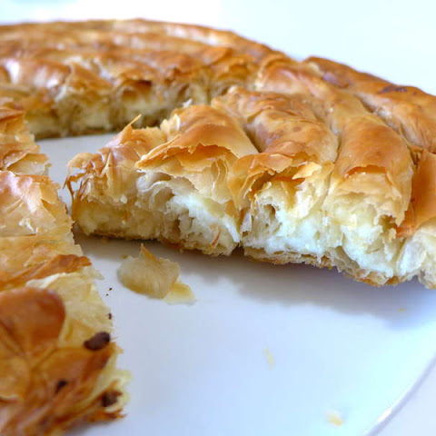 Spiral-shaped Greek Cheese pie recipe (Kichi Kozanis)