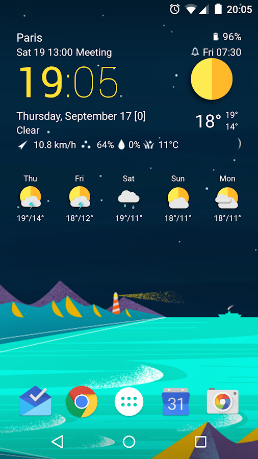 TCW material weather icon pack Screenshot 10