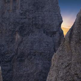 Quasi in Cima by Mark Soetebier - Sports & Fitness Climbing ( canon, climb, climbing, dolomites, unesco, alps, alpine )