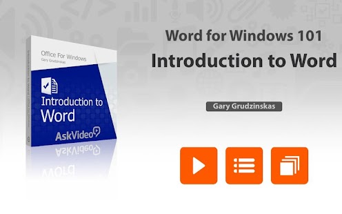 AskVideo Course For Word 2013 - screenshot
