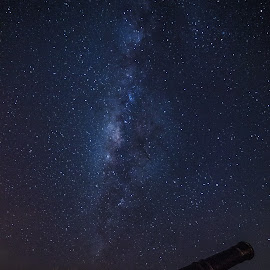 Milky Way Canons by Cory Loomis - Landscapes Starscapes ( canon, umatac, guam, lookout, stars, night, milky way )