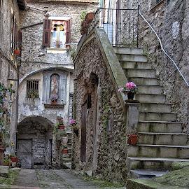 Cairoli street , Isolabona. by Roberta Sala - City,  Street & Park  Street Scenes ( isolabona, street, street scene, italy, street photography )