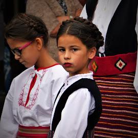 Folk costumes by Alen Zita - People Musicians & Entertainers ( girl child, folk, vinkovci, croatia, costume )