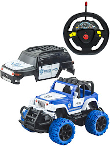 """Игрушка-радиуправляемая машинка серии """"Город Игр"""", внедорожник 2 в 1, белый-синий"""