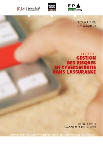 Certificat Gestion des risques en cybersécurité dans l'assurance