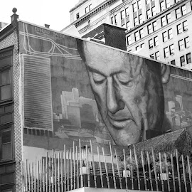 The Overseer by A Winston - Novices Only Street & Candid ( wall art, building, city life, edmund bacon, mural )