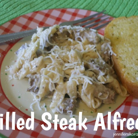 Grilled Steak Alfredo~YUMMY!