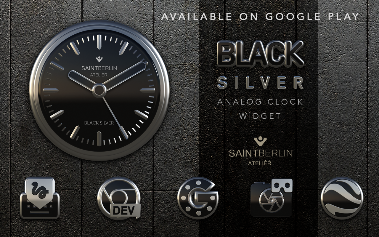 Icon Pack Black Silver 3D Screenshot 8