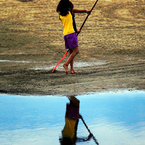 doing the work by Cristobal Garciaferro Rubio - Babies & Children Toddlers ( reflection, children )