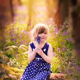 Eva in the bluebells by Love Time - Babies & Children Child Portraits