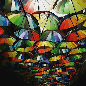 # by Daniela Murat - Instagram & Mobile Android ( umbrellas, caleavictoriei, bucharest, romania )