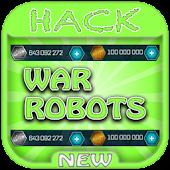 Hack For War Robots Game App Joke - Prank.
