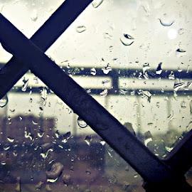 Rain by Syed Asem - Nature Up Close Natural Waterdrops ( #raining )