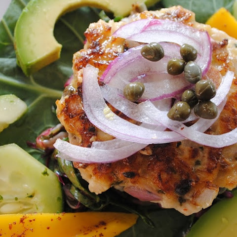 Spiced Rockfish Burgers with Collard Slaw #FishFridayFoodies