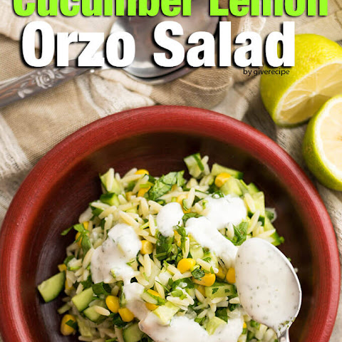 Cucumber Lemon Orzo Salad