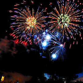 Selfie by Derrill Grabenstein - Abstract Fire & Fireworks