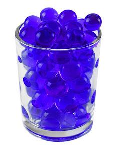 Гидрогелевые шарики L, синий
