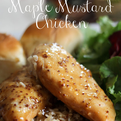 Slow Cooker Maple Mustard Chicken