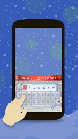 android Animated Christmas Keyboard Screenshot 3