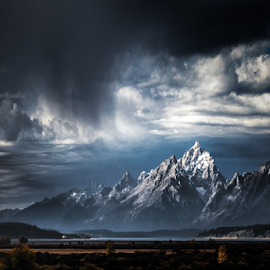Grand Tetons by Walt Mlynko - Landscapes Mountains & Hills ( yellowstone, oxbow bend )
