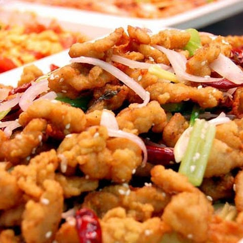 Absolutely spicy taste, Stir fry chicken with hot chilli