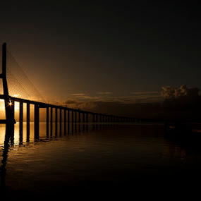 the great gig in the sky by Emanuel Ribeiro - Landscapes Waterscapes ( dawn, bridge, lisbon, morning, river )