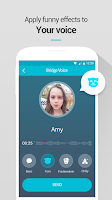 Screenshot of BridgeCall Fast Voice Message